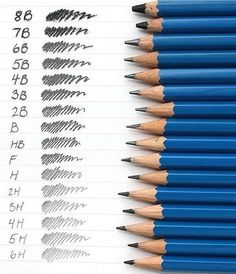 infographic on graphit pencils what density shading drawing line for each pencil size. Staedtler's Mars Lumograph wooden pencils are perfect for writing & drawing on paper and matte drafting film. Pencil Art Drawings, Art Drawings Sketches, Graphite Drawings, Drawing Techniques, Drawing Tools, Drawing Lessons, Sketching, Shading Drawing, Wooden Pencils