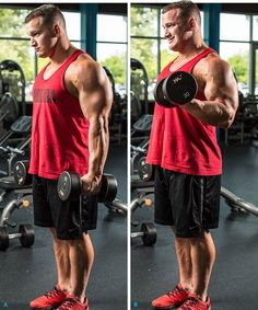 7 MustDo Hacks For Huge Arms is part of health-fitness - Try Hunter Labrada's effective hacks for triedandtrue arm exercises to maximize your results and add size to your biceps and triceps! Big Biceps, Biceps And Triceps, Biceps Workout, Gym Workouts, Ripped Workout, Fitness Gym, Fitness Tips, Fitness Motivation, Health Fitness