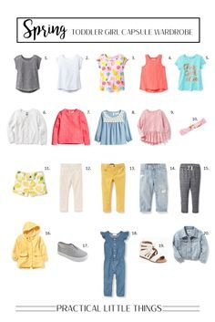 Toddler Girl Capsule Wardrobe for Spring 2017: Featuring Bright and Cheerful Colors