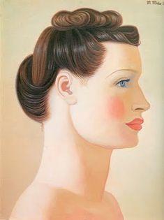 Cabeza, de Maruja Mallo (pintora de la generación del 27)  ~[ Maruja Mallo= nom d'artiste de Ana María Gómez González] (Vivero, Lugo, 5 de enero de 1902 - Madrid, 6 de febrero de 1995), fue una pintora surrealista española.