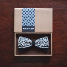 花コ | a r t i s a n ・ b o w t i e | an entirely hand embroidered, handmade clip-on bowtie, following the Japanese tradition of Kogin Embroidery (こぎん刺し)