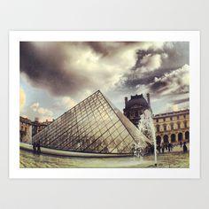 PARIS Louvre pyramid Art Print by WAMTEES - $17.68
