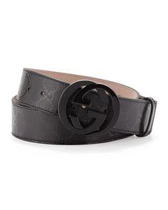 Interlocking G Belt by Gucci at Neiman Marcus.