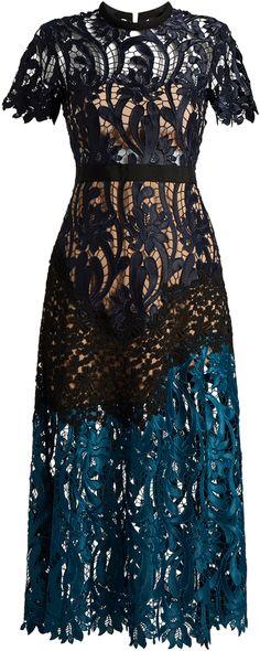 SELF-PORTRAIT Prairie lace midi dress