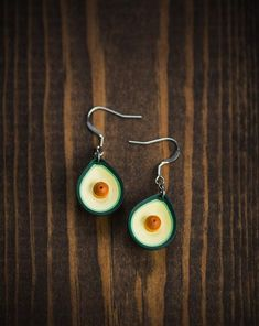 Avacado earrings/ Earrings/ Jewelry/ Graduation gift for her/ Quill/ Quilling/ anniversary gift/ Paper Anniversary gift/ Teacher Gifts - maya Graduation Jewelry, Graduation Gifts For Her, Graduation Ideas, Graduation Parties, Graduation Decorations, Graduation Pictures, Paper Quilling Earrings, Quilling Art, 1st Anniversary Gifts