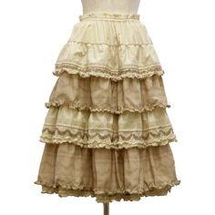 ピンクハウス公式通販サイト PINKHOUSE Webshop ❤ liked on Polyvore featuring skirts, bottoms, steampunk, brown skirt, steam punk skirt and steampunk skirt