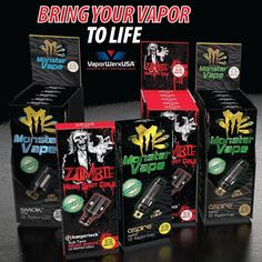 Bring Your Vapor to Life with our Monster and Zombie Replacement Coils.  www.vaporwerxusa.com