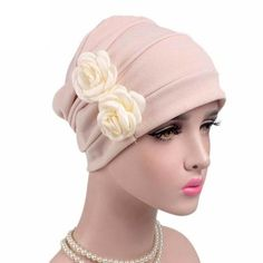 3ba85a4189c Women Knitted hat Flowers Cancer Chemo Hat Beanie Turban Fitted Head Wrap  Cap High Quality Cotton Cap Outdoor Mask Ski Caps. Warm Winter HatsWinter  Hats For ...