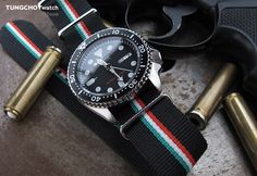 NATO Italian Ver. 2 Special Edition Nylon Watch Strap Polish (Italy, Hungary) on Seiko SKX007 #seiko #seikodiver #skx007 #watchband #nato #natostrap #watchstrap #men #menfashion #womw #wornandwound #wus