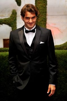 Roger Federer at the Wimbledon Champions' Ball.