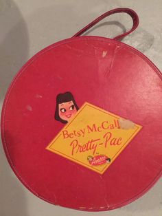 VINTAGE 1950's BETSY MCCALL PRETTY PAC DOLL E TOYS PLAID CARRY CASE AMSCO Red
