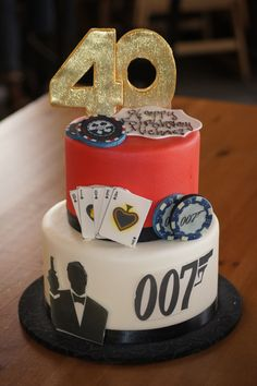 Tiered james bond 007 cake adult birthday cakes в 2019 г. adult birthday ca James Bond Cake, James Bond Party, James Bond Theme, Casino Party Decorations, Casino Party Foods, Casino Theme Parties, Healthy Cat Treats, Healthy Work Snacks, Super Healthy Recipes