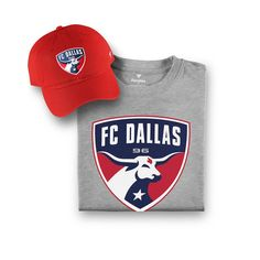 reputable site 658e2 13a72 Men s FC Dallas Fanatics Branded Red Gray T-Shirt   Adjustable Hat Combo  Set, Your Price   39.99