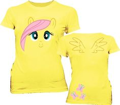 Amazon.com: My Little Pony Fluttershy Big Face Yellow Juniors T-shirt: Clothing (I CAN MAKE THIS!)