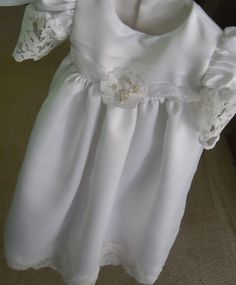 Front of Toddler Christening Gown made from Grandmother's Wedding Dress