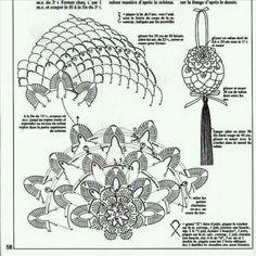 schematy bombek by siwa Crochet Snowflake Pattern, Crochet Edging Patterns, Crochet Snowflakes, Flower Patterns, Knitting Patterns, Crochet Ball, Crochet Doll Dress, Thread Crochet, Crochet Stitches