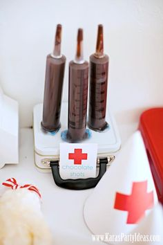 Doctor Nurse themed birthday or graduation party via Kara's Party Ideas www.KarasPartyIdeas.com-130