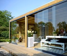 Narrow Pergola Attached To House - Pergola Patio Steel Gardens - - Small Pergola Ideas Doors Home And Garden, Garden Room, Modern Pools, Pool House, Wooden Canopy, Outdoor Rooms, Pergola Plans, Outdoor Design, Canopy Glass