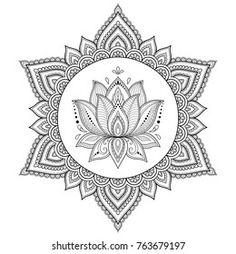 Portfolio d'images et de photos de stock de Katika   Shutterstock Lotus Henna, Mandala Lotus Flower, Lotus Flower Colors, Henna Tatoo, Mandala Tattoo, Henna Mehndi, Lotus Tattoo, Mandalas Drawing, Mandala Painting