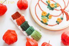 Herbststickerei Vorlage Sticken Blumen Fall Pumpkins, Autumn, Embroidery, Desserts, Food, Seasons Of The Year, Bricolage, Templates, Breien