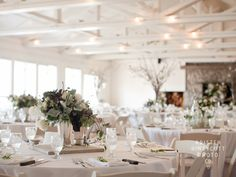 Clean, simple reception decor in the Pavilion.