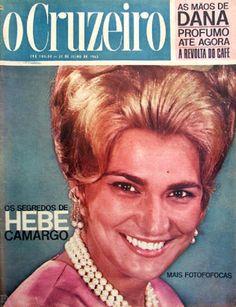 Capa de O Cruzeiro com Hebe Camargo.