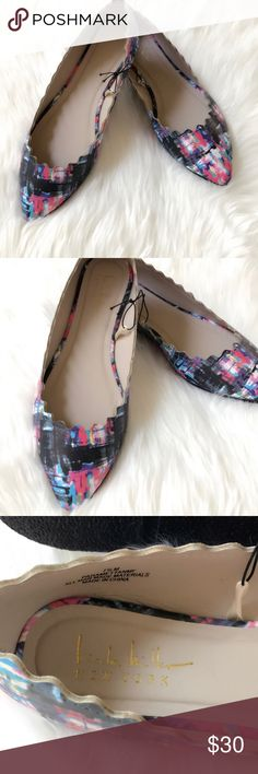 [Nicole Miller] Retro Point Ballet Flats Very comfortable with a retro multicolored design! Super cute! Light weight, man made material. Brand new, excellent unused condition. A must have! Nicole Miller Shoes Flats & Loafers