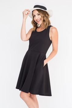 The Fisher Dress - the perfect little black dress for EVERY body. The waist, although elastic, is not binding. It provided a natural waistline. The material is lightly textured. Another staple piece that can be worn in unlimited ways.