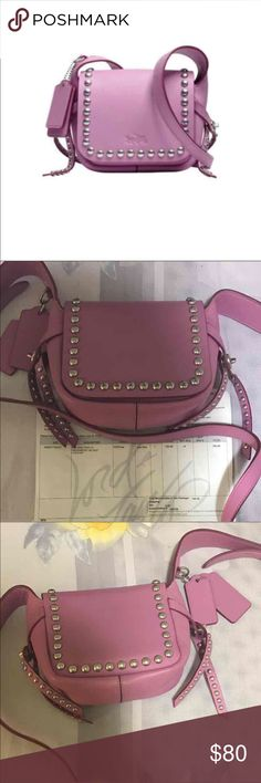Coach rivet crossbody in calf leather color: WR/Puce one size  tetail price: $196.86    Used,the condition is good Coach Bags Crossbody Bags
