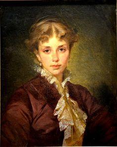 Portrait of Lady, 1870, by Konstantin Makovsky (Russian, 1839-1915)