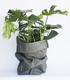 """Created originally as a modest bread bag, Uashmama bags look great everywhere with anything. With endless possibilities, the Uashmama paper bag is perfect for storage in the kitchen, the laundry room, bathroom, kids room, for dog toys, as planters and so much more. Width: 13"""" Height: 35.5"""""""