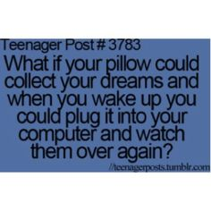 That would be amazing.