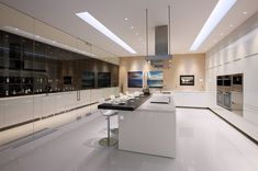 super luxury kitchen with sliding bench top
