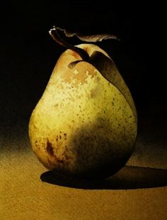 Pears...,painting by artist Jacqueline Gnott.....She captures every detail making it so realistic.