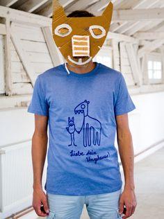 T-Shirt Liebe dein Ungeheuer in der Boy-Version, für die mutigen Momente des Lebens. Siebdruck-Unikat und einzigartiges Geschenk, zum Geburtstag, zum Valentinstag, zu Weihnachten und für weitere...