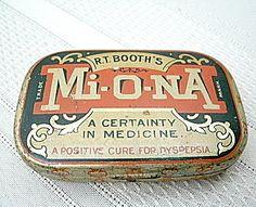 Vintage Medicine Tin - Mi-O-Na For Dyspepsia