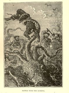 Battle with the octopus: Quick! Get the hatchet!