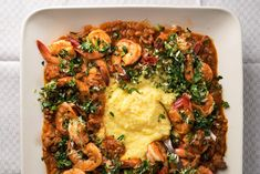 As comforting as shrimp and grits, this dish puts savory, golden polenta front and center.