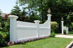 illusions majestic vinyl pvc fence posts entryway driveway
