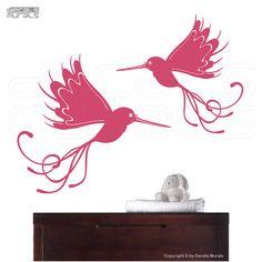 Whimsical Bird Decals