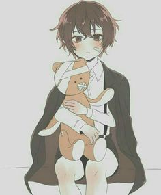 Imagine little Dazai putting bandages to his teddy bear because he thought the teddy bear was hurt.