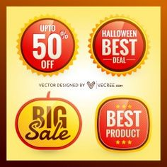 Halloween Discount Free Vector