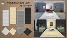 Khany Sims - Sols et Murs - Sims 4 - Floors and Walls