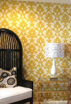 Fabric wallcoverings are a great solution for renters because they are temporary and don't damage the walls underneath.