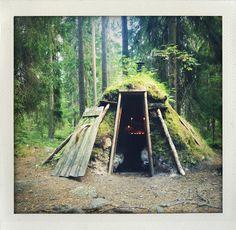 Kolarbyn eco-lodge (Swedens's most primitive hotel).
