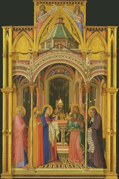Uffizi Gallery. AMBROGIO LORENZETTI. Presentation in The Temple. c. 1342