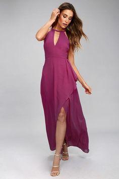 Lulus - Lulus I Spy Magenta Maxi Dress - AdoreWe.com