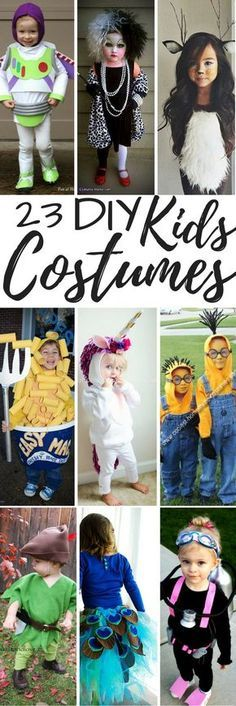 23 DIY Halloween Costumes for kids! Save money this year and make it at home! Plus no other kid will have as great of a costume as your kiddo!