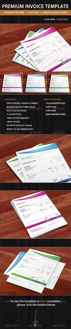 Medical Bill Template - Olivia Ready-To-Use #GraphicRiver - use of an invoice