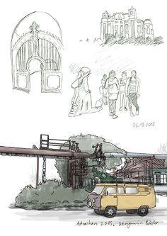Skizzen aus Astrachan. #architektur #ingeneurskunst #russland #skizzen